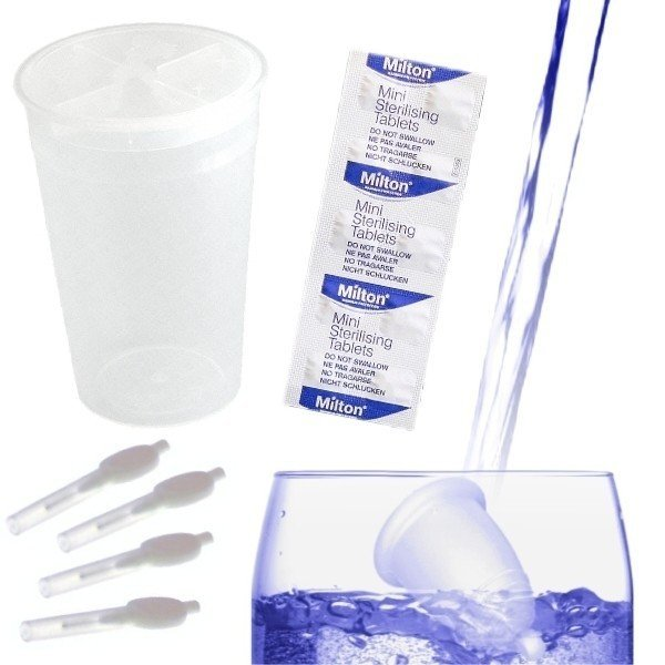 Стерилизация менструална чашка комплект