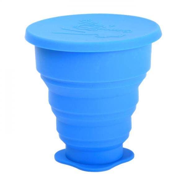 Сгъваема чаша MeLuna синя